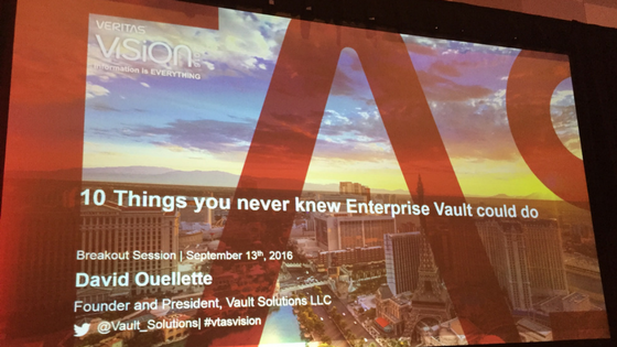 10 Things About Enterprise Vault Cover Slide