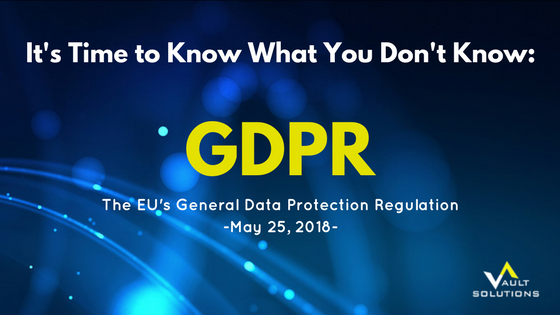 GDPR- It's Time to Know What You Don't Know